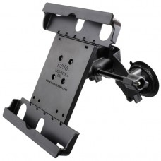 Dual Suction Cup EFB Mount with Retention Knob, and Large Tab-Tite™ Universal Tablet Holder